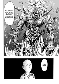 Onepunch-Man 34 Page 13  Ok. Saitama just wants to finish up here and play video games.