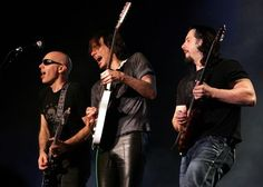 Joe Satriani, Steve Vai and John Petruccil