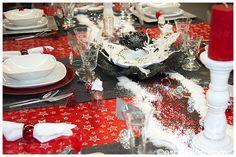 table de fête rouge et noir #2