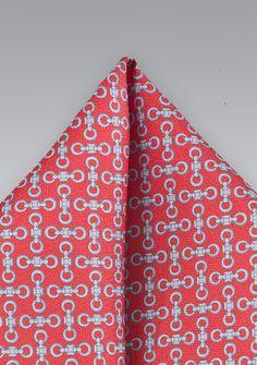 8486c5d92e8b9 Dark Coral Pocket Square - ties shop - Patterned Pocket Squares
