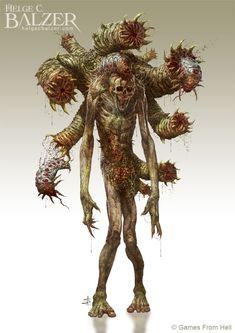 virus monster ArtStation - Parasite Spitter - Presidium - (c) Games From Hell, Helge C. Monster Concept Art, Fantasy Monster, Monster Art, Arte Zombie, Zombie Art, Horror Monsters, Cool Monsters, Creature Concept Art, Creature Design