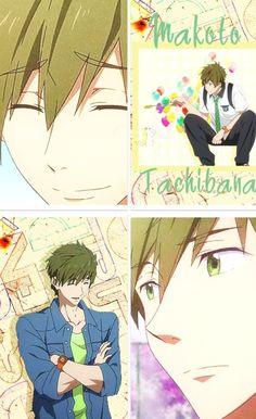Free! Iwatobi Swim Club -Makoto Tachibana | He is literally the cutest sweetheart on this planet. I mean, why?! I want one...