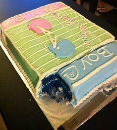 Blue Velvet Gender Reveal Cake