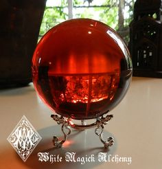 Ruby Red Crystal Ball Sphere