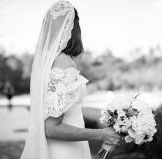 #lace, #veils  Photography: A Bryan Photo - abryanphoto.com Event Planning: Mariée Ami Wedding Planning Studio - marieeami.com/ Floral Design: Nuevo Flowers - eventsbynouveauflowers.com  Read More: http://www.stylemepretty.com/2013/07/09/rosemary-beach-florida-wedding-from-mariee-ami-wedding-planning-studio/