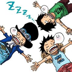 Ace , Sabo , Luffy / Stamp Deco One Piece
