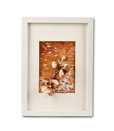 Small Orchid Collage Painting In Frame by Natalia Madunicka on Etsy  #art #painting #mixed #orchid #flower #collage #gift #present #colourful #original