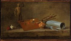 Chardin | Attributes of the painter (ca. 1725-27)