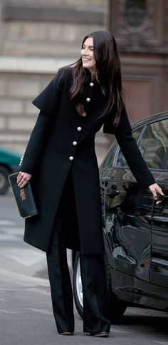 Must have in every wardrobe, a stand-out black coat!