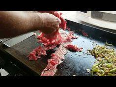 A simple way to make a good philly cheese steak. Philly Cheese Steaks, Steak Sandwich Recipes, Steak Recipes, Soup Recipes, Outdoor Griddle Recipes, Steak Toppings, Steak And Onions, Cheesesteak Recipe, Blackstone Griddle