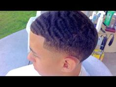 Waves Are Spinning Low Taper Fade Haircut, Boys Fade Haircut, Black Boys Haircuts, Black Men Hairstyles, Haircuts For Men, Men's Haircuts, 360 Waves, Wave Pattern, Cut And Style