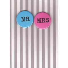 Nancy & Betty Mr and Mrs Card and Badges!!