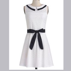 Sailor dress  Modcloth My absolute favorite white dress with a black collar. It's been worn once for graduation and it sadly doesn't fit anymore. ModCloth Dresses