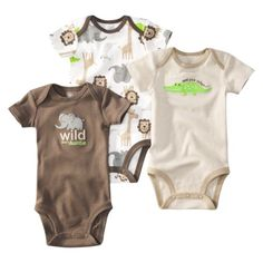 JUST ONE YOU Made by Carters ® Infant Boys 3 Pack Bodysuit Set - Green. Tam: RN a 24 M Precio: $8.99