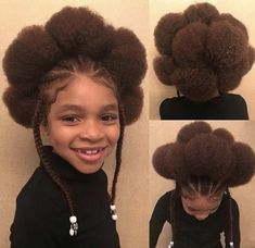 Tried something new and created a Flower Puff Style 🌼 it's a freeform texture style that was very easy to do using Cashmere & Caviar… Braids For Kids, Girls Braids, Baby Girl Hairstyles, African Hairstyles, Creative Hairstyles, Cool Hairstyles, Children's Hairstyle, Hairdos, Curly Hair Styles