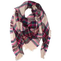 DRY77 Large Oversized Square Blanket Plaid Tartan Pattern Scarf Wrap ($15) ❤ liked on Polyvore featuring accessories, scarves, tartan plaid shawl, wrap scarves, plaid wraps shawls, tartan shawl and oversized scarves