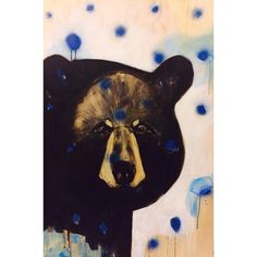 Black bear.  Oil; acrylic and spray on wood. I researched Black Bears before I created this commission piece.  Very sadly, I came across quite a number of hunted bear photographs.  The comparison of the pictures of them living in the wild with the stark, stone cold dead photos, really struck me.  These animals, whilst so at times fierce and strong, are also so very vulnerable. #sold #blackbear #huntingdoesnotmakeyouaman #stophunting #artwork #bear #catlee www.theartofcatlee.com