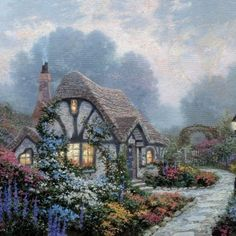 """Chandler's Cottage"" by Thomas Kinkade 5/16/15"