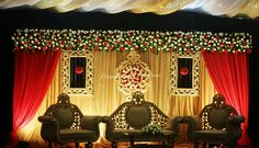 Reception Stage Decor, Wedding Stage Design, Wedding Reception Backdrop, Wedding Mandap, Flower Decorations, Wedding Stage Decorations, Backdrop Decorations, Backdrops, Indian Wedding Stage