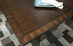 Delaney Burnt Auburn Finish - Table Top Detail - The Delaney Collection by Legacy Classic Furniture