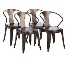 Tabouret Stacking Chair Set of 4 . This Set Of Dining Room Chairs Is Perfect For Adding A Vintage Look To Your Home. Crafted With A Solid Steel Construction And Coated With A Scratch-Resistant Finish These Chairs Will Last In Quality In Style. Kitchen Chairs, Dining Chair Set, Dining Room Chairs, Table And Chairs, Side Chairs, Dining Sets, Beach Chairs, Patio Chairs, Adirondack Chairs