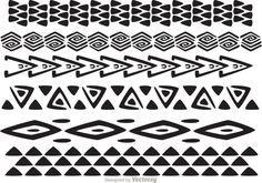 Hawaiian Tribal Pattern Vectors Pack 1
