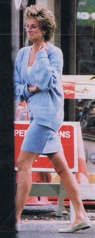 After talking an inspector out of giving her a parking ticket in Kensington. 1994