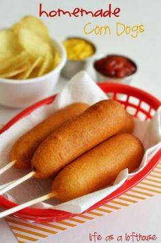 Who doesn't love corn dogs in the summer? They embody two of the most-loved summer foods: hot dogs and corn. And, they're on a stick, so they're super easy to eat! And, as it turns out, they're not too hard to make yourself either! And you don't even need...