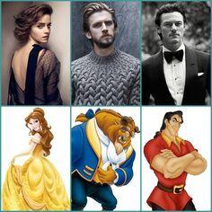 Looking forward to Disney's Beauty & the Beast ~ cast.. Emma Watson - Belle / Bella Dan Stevens - Beast / Bestia Luke Evans - Gaston / Gastón