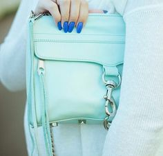 #rebeccaminkoff #mintgreenbag #mintgreenblouse #aqua #tiffanygreen