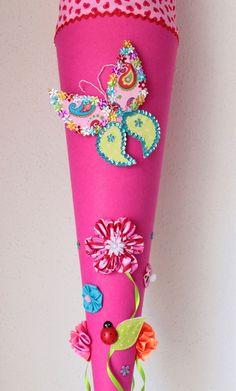 """Schultüten - Schultüte, Zuckertüte """"Schmetterling"""" - ein Designerstück von Anastasiyas-Stoffmaerchen bei DaWanda"""