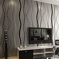 PALUTON+Art+Deco+Wallpaper+Contemporary+Wall+Covering,Non-woven+Paper+Simple+Modern+Moisture+Permeability+–+AUD+$+61.48