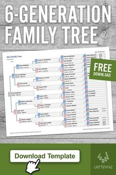 Residence and Household (Templates) Obtain a free printable Household Tree Template for Excel or Goo Family Tree Worksheet, Free Family Tree Template, Family Tree Chart, Printable Family Tree, Genealogy Forms, Genealogy Chart, Family Genealogy, Genealogy Websites, Genealogy Humor