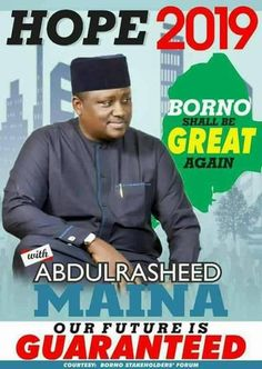 2019: Maina's Campaign Posters Overflow Borno, FCT, Northern Cities