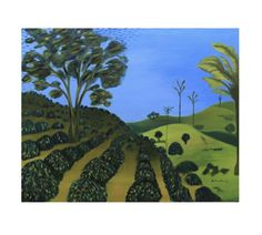 EL CAFETAL or THE COFFEE PLANTATION is a reminder of Colombian artist SERVELIO about the countryside and rural life. Discover more at THEARTMARKET.COM