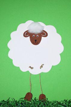 Schafe basteln - Anleitung & Vorlage