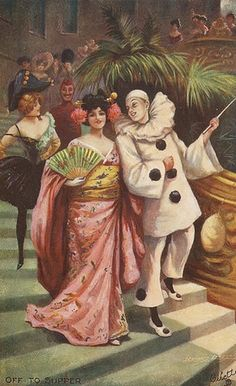 Off to Supper by dawlin1, via Flickr (Whoever said Pierrot couldn't get the girl?)