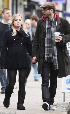 """David Tennant and wife Georgia Moffet (Jenny from The Doctor's Daughter).   """"This makes Moffett a Doctor's daughter who played the Doctor's daughter and then had the Doctor's daughter."""" #DoctorWho"""