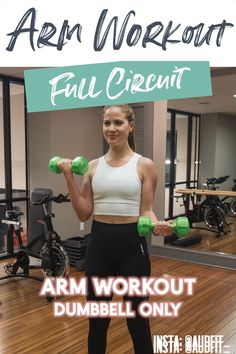 This arm workout can be done at home or in the gym with dumbbells, toning and strengthening your biceps and triceps. This arm workout can be done at home or in the gym with dumbbells, toning and strengthening your biceps and triceps. Arm Workout Videos, Arm Workout For Beginners, Arm Workouts At Home, Gym Beginner, Arm Weight Workouts, Arm Toning Workouts, Arms And Back Workout At Home, Workouts Hiit, Workout Videos For Women