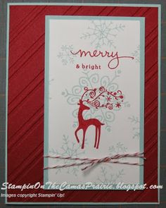 Stampin' on the Prairie, Best of Christmas stamp set, Endless Wishes stamp set, Stampin' Up!, Christmas card