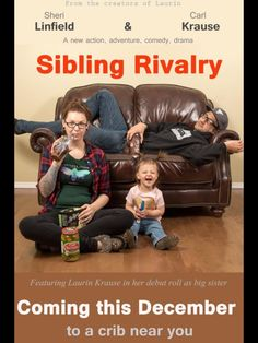 Birth pregnant pregnancy knocked up baby infant sibling rivalry announcement movie poster unique fun action adventure comedy sister toddler pickles ice cream test