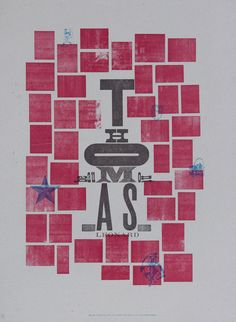 Wood type, cuts, printed on a Vandercook Universal 3 Casey McGarr