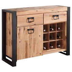 Rustic Wine Rack Sideboard