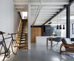 The design of a minimalist home staircase is important in the design of a minimalist house. In the design of a house, the presence of stairs is part of the interior of the house tha… Architecture Design, Estilo Interior, Design Minimalista, Micro Apartment, Workshop Design, Staircase Design, Stair Design, Minimalist Home, Minimalist Interior
