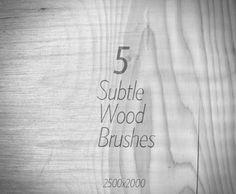 5 Subtle Wood Brushes