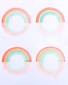 Image of Quadruple Rainbow Reflections