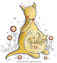 Глупый Joey!  (Рашель Энн Миллер) Метки: цветы красные цветка младенца художественные желтые Дети иллюстрация фотошоп акварель дети малыш дети ребенок Джои DigitalArt мать Австралия чистый кенгуру сумка Подсолнухи подсолнечника иллюстратор акварели просто кенгуру childrensillustration childrensillustrator