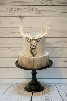 Oh Christmas Deer! by Darcey Oliver Cake Couture (Chocolate Party Hands) Cupcakes, Cupcake Cookies, Beautiful Cakes, Amazing Cakes, Deer Cakes, Deer Hunting Cakes, Hunting Grooms Cake, Hunting Birthday Cakes, Camo Birthday