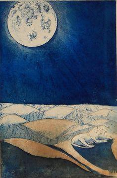 """Yön vartijat"" (""Night Watchers"") by Finnish artist  Sari Bremer (2002)."