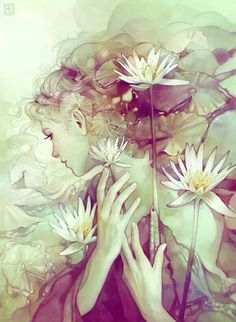 Anna Ditmann illustration /// Reminds me of Ophelia